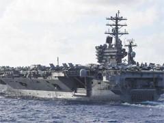 """""""尼米兹""""号航母一水兵在航行途中失踪"""