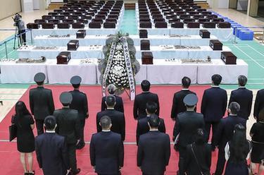 在韩中国人民志愿军烈士遗骸装殓仪式今日举行