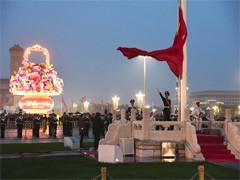 天安门广场举行升国旗仪式