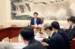 栗战书主持召开十三届全国人大常委会第七十八次委员长会议
