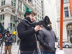 纽约抗议者反对华尔街对散户不公做法