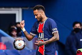内马尔染红 里尔1-0巴黎