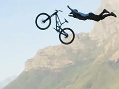 西拔牙山地自行车手完成30米跨度