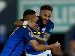 巴西2-0乌拉圭
