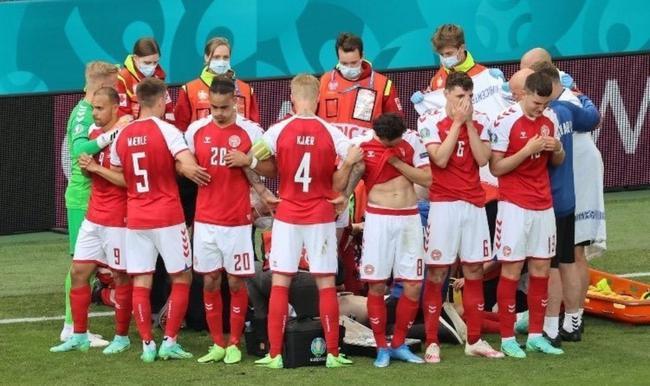 丹麦球员埃里克森比赛中突然休克