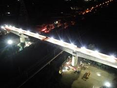 廊坊特大桥转体梁转体成功