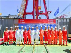 全球首艘智能深水钻井平台在南海开钻