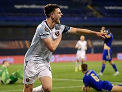 欧联杯西汉姆联2-0萨格勒布迪纳摩