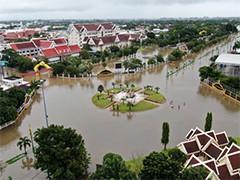 """热带风暴""""电母""""席卷泰国 约1.4万户居民受灾"""